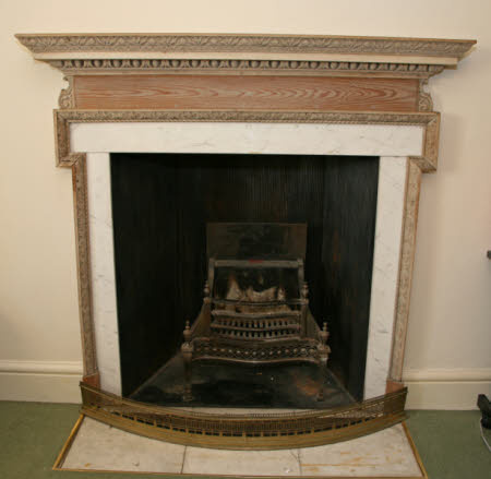 Chimneypiece, West Office, Mottisfont Abbey, Hampshire