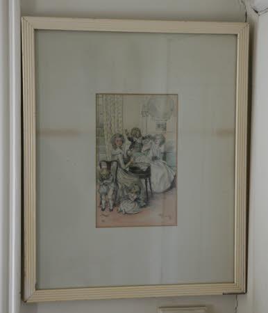 Victorian family scene