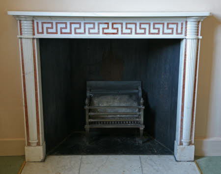 Chimneypiece, West Flat, Mottisfont Abbey, Hampshire.