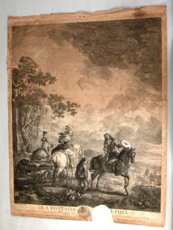 La Fontane (et le) Dauphin (after Philips Wouwerman)