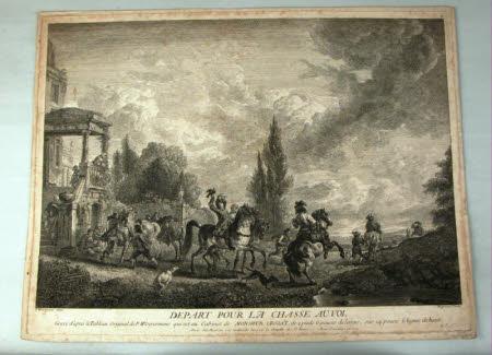 Depart pour la chasse au vol (after Philips Wouwerman)