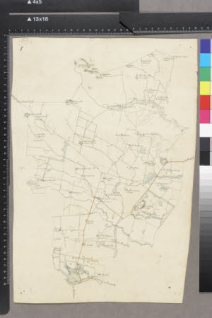 Map of the Wallington Estate, Northumberland