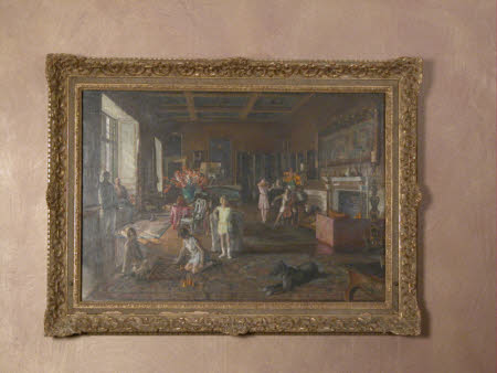 The Howard de Walden Family in the Saloon at Chirk Castle