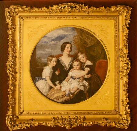 Matilda Blanche Crawley-Boevey, Mrs William Gibbs (1817-1887) with her Children, Alice Blanche ...