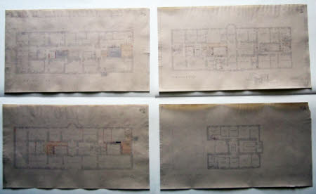 Four plans of Wimpole Hall, Cambridgeshire, showing proposed alterations