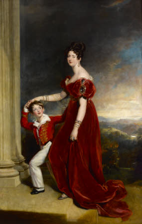 Lady Frances Anne Emily Vane-Tempest, Marchioness of Londonderry (1800-1865) and her Son George ...