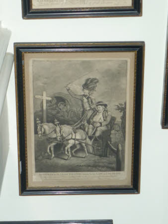 'An officer in the Light Infantry driven by his Lady to Cox-Heath' (after John Collet)