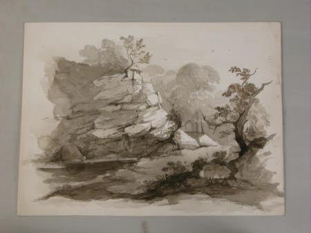 A rocky scene