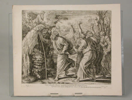 Moses striking the Rock (after Raphael)