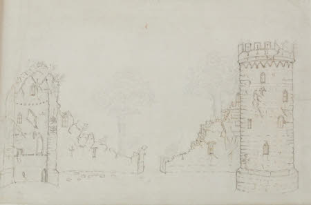 Elevation drawing A for the Gothic Folly at Wimpole, Cambridgeshire