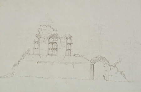 Elevation drawing B for the Gothic Folly at Wimpole, Cambridgeshire