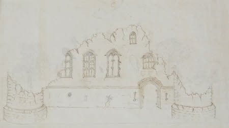 Elevation drawing C for the Gothic Folly at Wimpole, Cambridgeshire