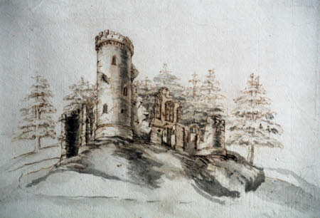 Perspective drawing for the folly at Wimpole, Cambridgeshire