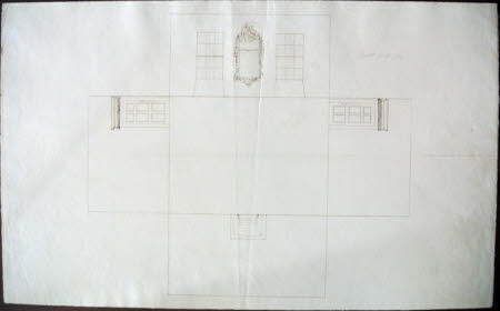 Laid-out plan for the Ante-Room at Wimpole Hall, Cambridgeshire