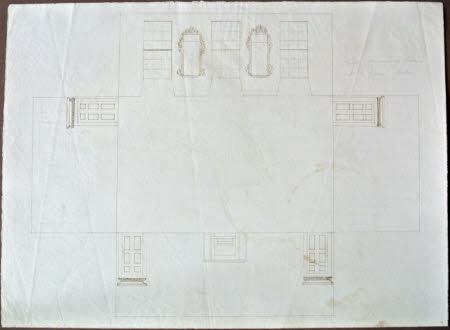 Laid-out plan for the South Drawing Room at Wimpole Hall, Cambridgeshire