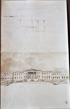 Sketch proposal for the remodelling of the south front of Wimpole Hall, Cambridgeshire