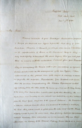 Letter from H.E. Kendall to Charles Philip Yorke, 4th Earl of Hardwicke