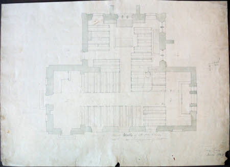 Survey plan of the church at Wimpole, Cambridgeshire