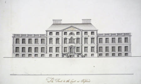 Proposal for remodelling the south façade at Wimpole Hall, Cambridgeshire