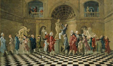 A Gathering of the Dilettanti around the Medici Venus