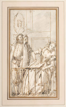 Three Figures on a Balcony