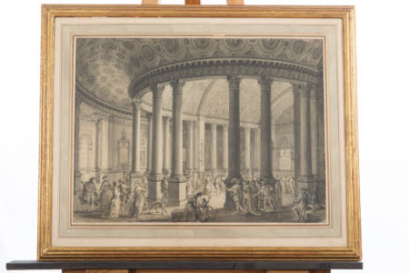 The Ballroom of a Pavilion erected at The Oaks, Surrey, for a Fête Champêtre given by Lord Stanley ...