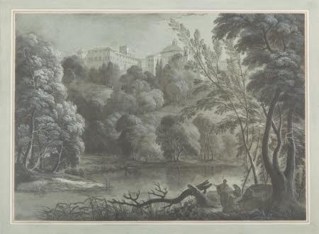 Ariccia; the Chigi Palace and Santa Maria dell' Assunzione