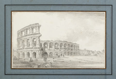 View of the Amphitheatre, Verona (also previously called The Colosseum, Rome)