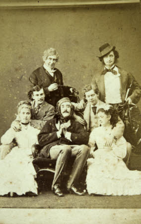 """The cast of """"Two Roses"""" by James Albery, including Sir Henry Irving (1838-1905) Digby Grant and ..."""