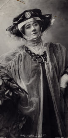 """Ellen Terry as """"Mistress Page"""" in The Merry Wives of Windsor by William Shakespeare"""