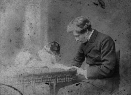 Edward Henry Gordon Craig (1872-1966) with a Dog
