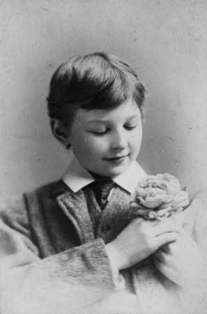 Edward Henry Gordon Craig (Stevenage 1872 - Vence 1966) as a boy, with a flower in button-hole of ...