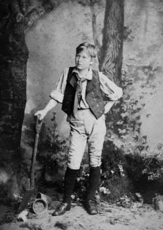 "Edward Henry Gordon Craig (1872-1966) as Joey, the gardener's boy, in ""Eugene Aram"" by W. G. Wills ..."