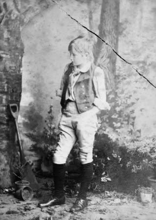 "Edward Henry Gordon Craig (1872-1966) as a child in Chicago as Joey the Gardener's Boy in ""Eugene ..."