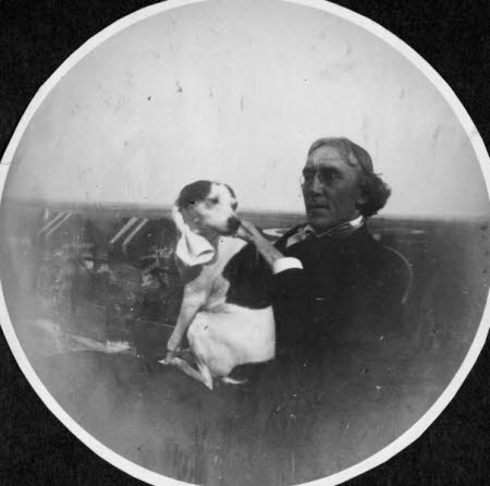 Sir Henry Irving (1838-1905) and Dog called 'Fussie'