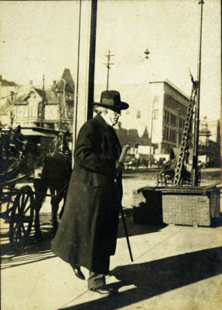 Sir Henry Irving (1838-1905) Coming Back from Rehearsal in America