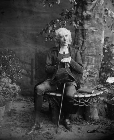 Sir Henry Irving (1838-1905) as the Reverend Dr Charles Primrose in 'The Vicar of Wakefield' by J. ...
