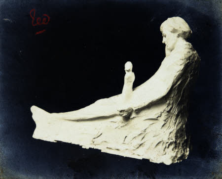 Edward Henry Gordon Craig (1872-1966) in the form of a 2 metre long white plaster reclining statue