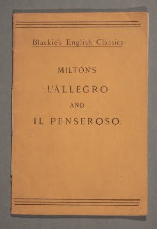 L' Allegro :. and, Il Penseroso,