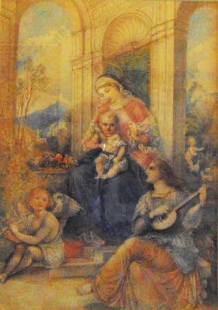 Adoration of Madonna and Child