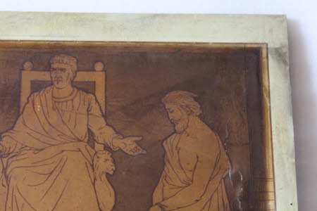 Scenes from the Passion/Life of Christ: Christ before Annas/Caiaphus/Herod (?)