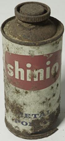Metal polish tin