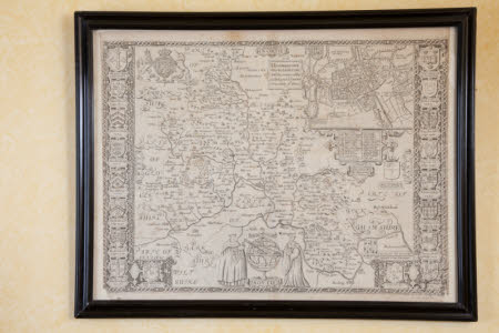 Map of Oxfordshire and the University of Oxford, 1605