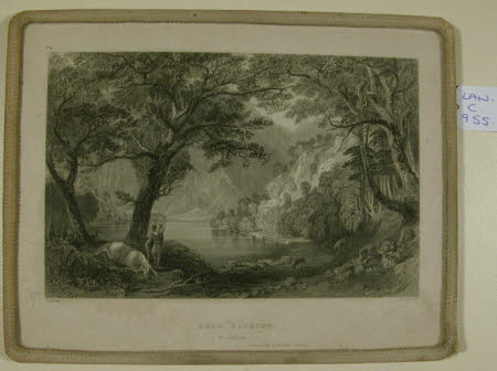 """Loch Katrine.  Perthshire.  Scene """"Lady of the Lake"""" Canto 1."""