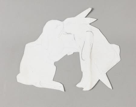 Two rabbits kissing
