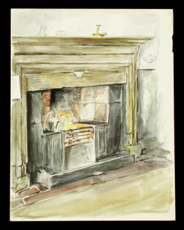 Fireplace at Melford Hall