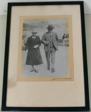 William Straw senior (1864-1932) with his wife Florence Anne Winks, Mrs William Straw (1864-1939) ...