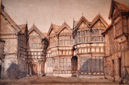 The Courtyard, Little Moreton Hall, Cheshire