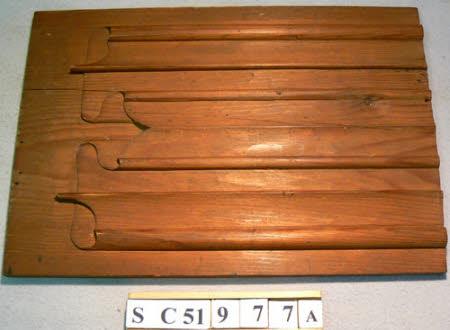 Carved softwood sample panel