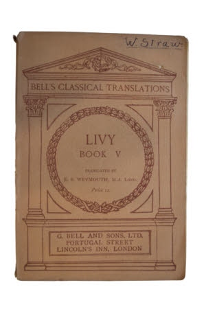 Livy's history of Rome. . Book V. Translated by E.S. Weymouth.